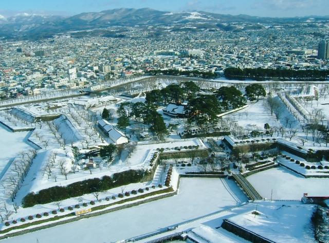 Goryokaku_snow in Hakodate