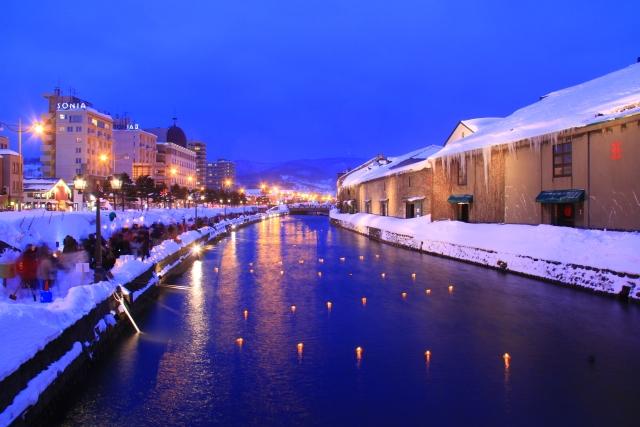 Otaru canal_winter